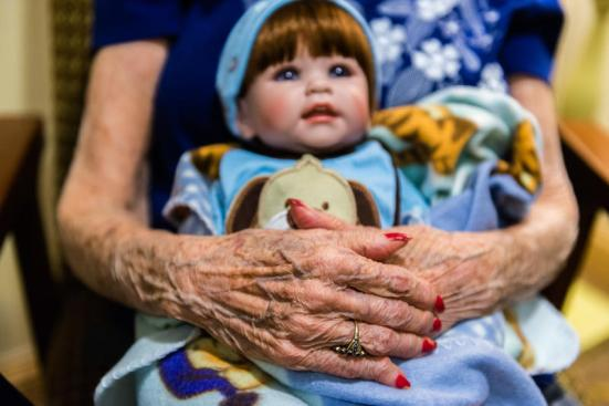 Alzheimer's care doll therapy